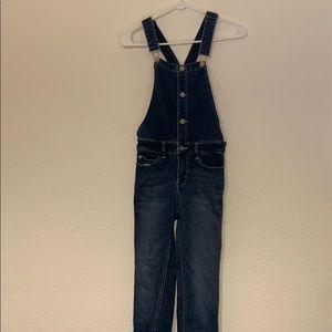 NEW denim overalls dark wash blue